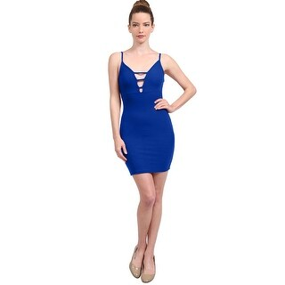 NE PEOPLE Women's Ribbed Cami Ladder Cut Out Sexy Bodycon Dress