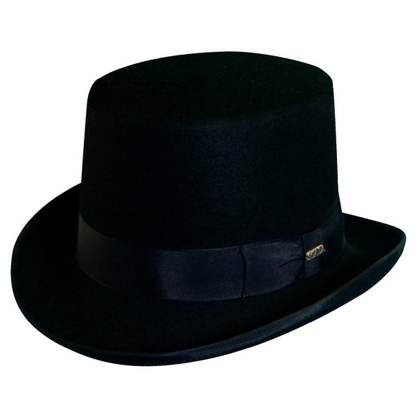 9236b0984e85b Shop Dorfman Pacific Men s Wool Felt Traditional Top Hat - Ships To ...