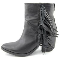 RUDSAK Womens 8214082 Boot Leather Pointed Toe Ankle Fashion, Black, Size 8.5