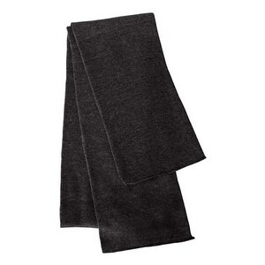 Sportsman Solid Knit Scarf - Charcoal - One Size