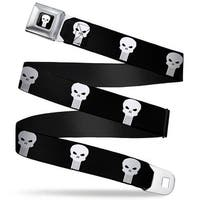 Marvel Universe Punisher Logo3 Full Color Black White Punisher Logo Black Seatbelt Belt