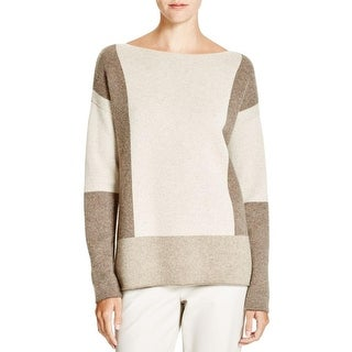Vince Womens Pullover Sweater Wool Colorblock