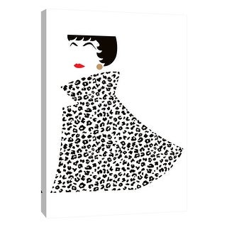 """PTM Images 9-105208  PTM Canvas Collection 10"""" x 8"""" - """"Lady in Swing Coat 1"""" Giclee Women Art Print on Canvas"""