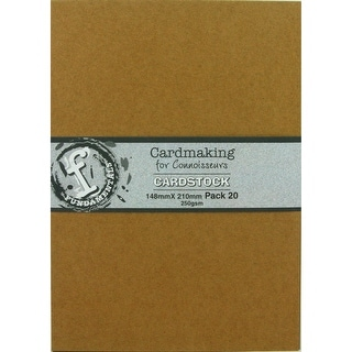 "Fundamentals Cardmaking Unscored Cardstock 5.83""X8.27"" 20/Pk-Kraft"