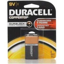 Duracell Coppertop 9V Alkaline Battery 1 Each