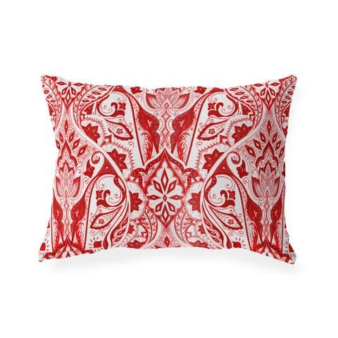 MAHAL RED Indoor Outdoor Lumbar Pillow by Kavka Designs - 20X14
