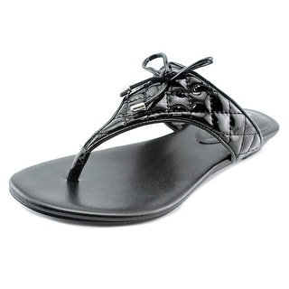 BCBGeneration Alice Open Toe Patent Leather Thong Sandal
