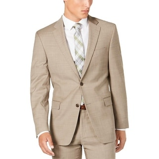 Link to Tommy Hilfiger Mens Two-Button Blazer Wool Blend Melange - Tan - 42S Similar Items in Sportcoats & Blazers