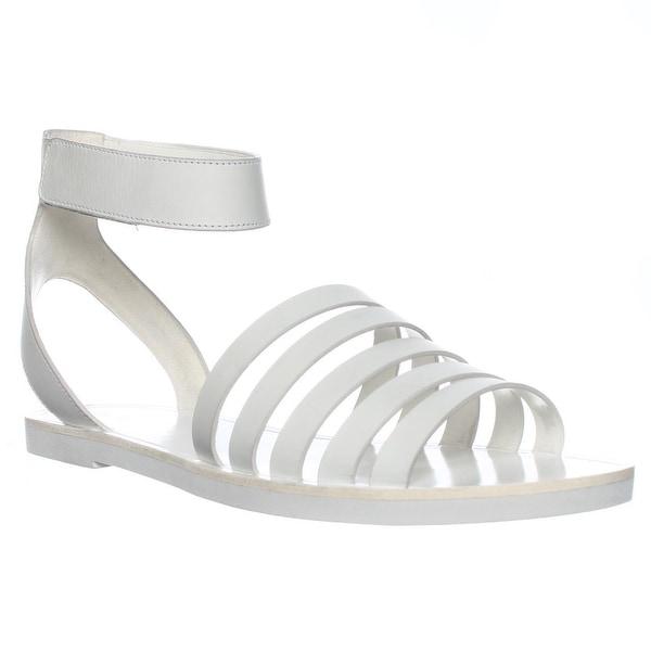 VINCE Cassie Ankle Strap Flat Sandals, Bone