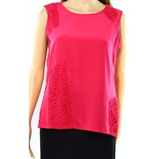 Calvin Klein NEW Pink Women's Size Large L Sleeveless Lace Blouse Top