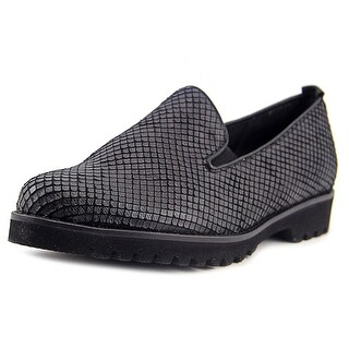Gabor 32.660 Women W Round Toe Leather Black Loafer