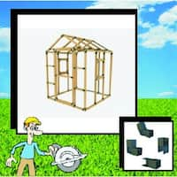 E-Z Frame 8X8 Playhouse Structure Kit (lumber not included)