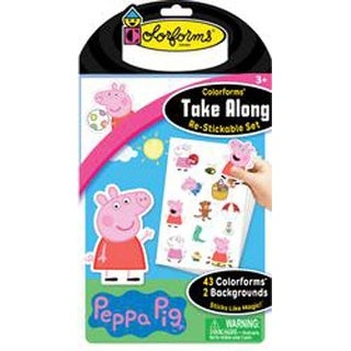 Peppa Pig - Colorforms(R) Take Along Re-Stickable Sticker Set
