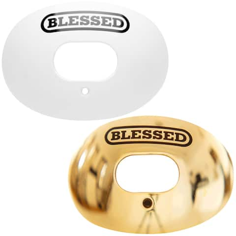 Battle Sports Science Blessed Chrome Oxygen Lip Protector Mouthguard with Strap - One Size