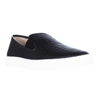 Vince Camuto Becker Woven Casual Slip On Sneakers, Black