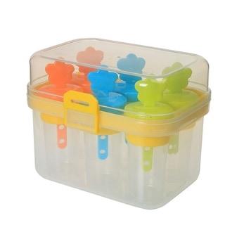 Home Kitchen Plastic 6 Compartments DIY Ice Bar Frozen Juice Popsicle Cube Mold - Multi-Color
