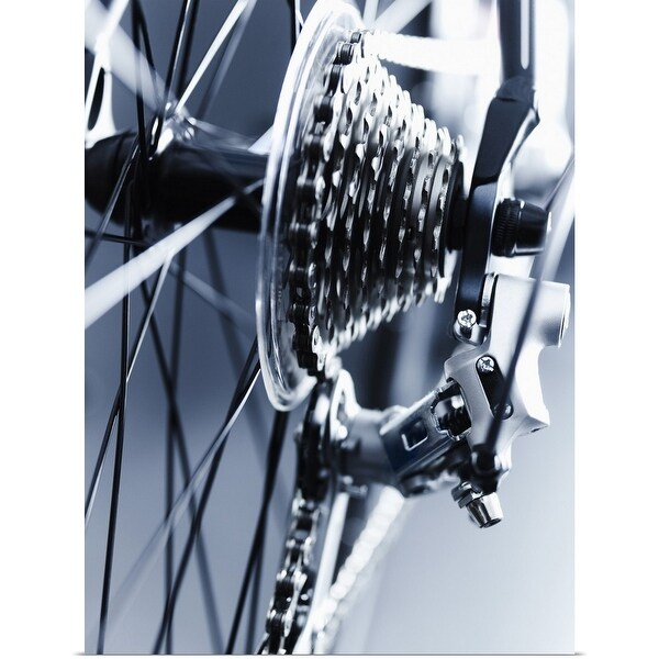 """""""Close up of bicycle gears"""" Poster Print"""