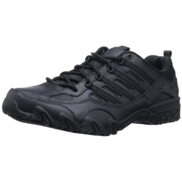 running shoes to buy big discount Skechers For Work Women's Compulsions Chant Lace-Up Work Shoe, Black