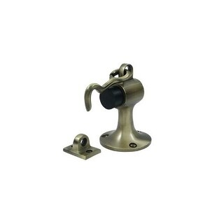 "Deltana SAHF358 Solid Brass Floor Mount 3 5/8"" x 2 1/4"" Bumper with Holder"
