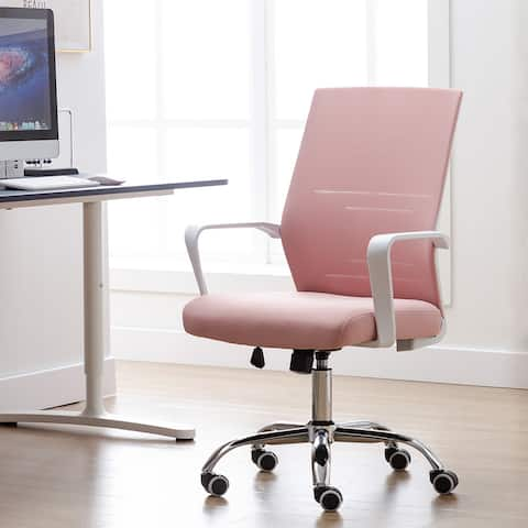 Porthos Home Brio Swivel Office Chair, Mesh Back, Adjustable Height