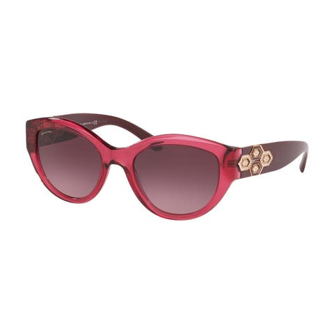 Bvlgari BV8221B 54788H 53 Transparent Violet Woman Irregular Sunglasses