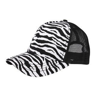 Top Headwear Fashion Animal Print Trucker Cap
