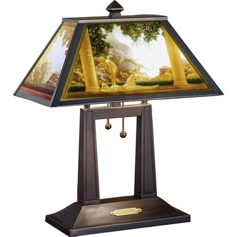 Meyda Tiffany 37464 Stained Glass / Tiffany Table Lamp from the Maxfield Parrish Museum Collection - tiffany glass - n/a