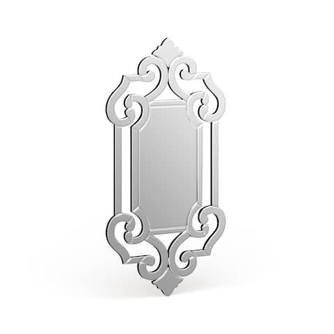 Patrice Venetian Styled Wall Mirror - mirrored
