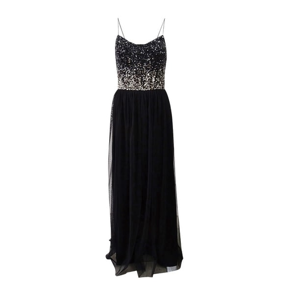 Adrianna Papell Women's Sequined Tulle Gown. Opens flyout.