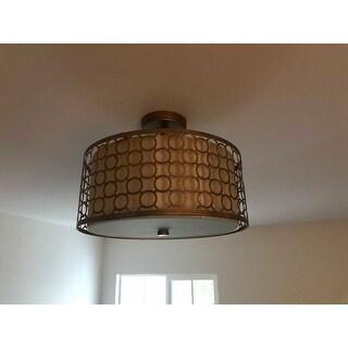 Shop Safavieh Lighting Giotta 3 Light Gold Ceiling Light