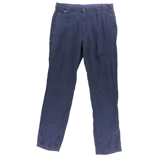 4ae29cd79026 Shop Polo Ralph Lauren Mens Big   Tall Casual Pants Classic Fit Linen - Free  Shipping Today - Overstock - 16410936