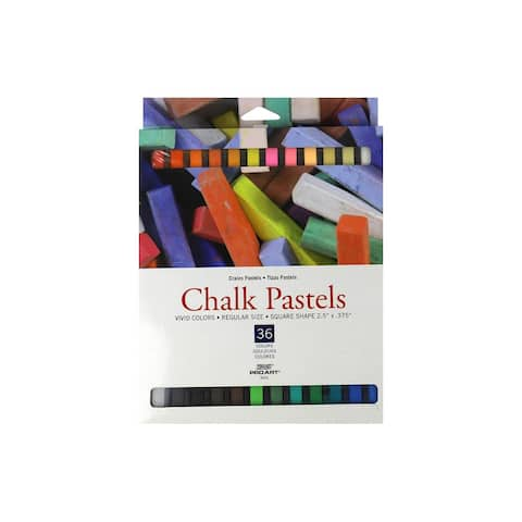 Pro Art Chalk Pastels Square 36pc Vivid Color - White - Medium