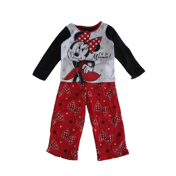 fa874469f0 Shop Disney Little Girls Black Red Minnie Bow Print Long Sleeve 2 Pc Pajama  Set - Free Shipping On Orders Over  45 - Overstock.com - 25542743