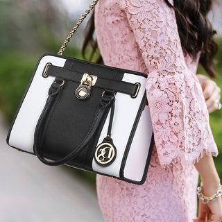 Link to Dasein Two-Tone Gold Chain Strap Satchel Handbag with Matching Wallet Similar Items in Shop By Style