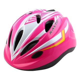 LED Light Road Cycling Mountain Bicycle Adjustable Safety Bike Helmet Pink White
