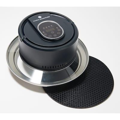 Cook's Essentials Air Fryer Lid for Pots, Pans & Pressure Cooker Black Refurbished