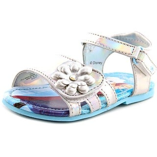 Disney 1808 Frozen Sandals Toddler Open-Toe Synthetic Silver Slingback Sandal