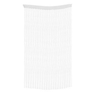 Unique BargainsDoor Sparkling Flat Ribbon Strip Tassel Screen Divider String Curtain Gray - MultiColor