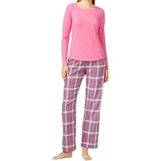 Calvin Klein Womens Pajama Set Flannel 2PC