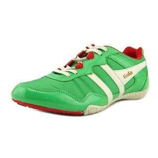Gola Cue Men  Round Toe Canvas Green Sneakers