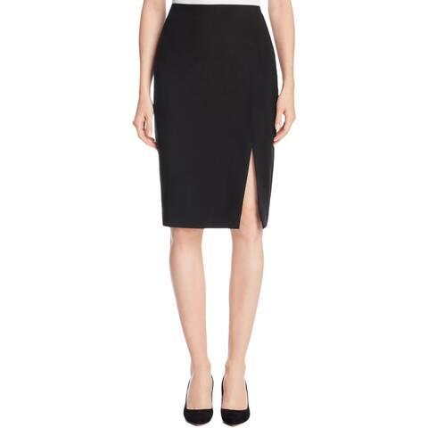 Finity Womens Straight Skirt Knee-Length Side Slit