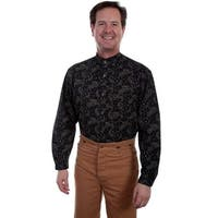 Scully Western Shirt Mens Paisley Long Sleeve Button Front