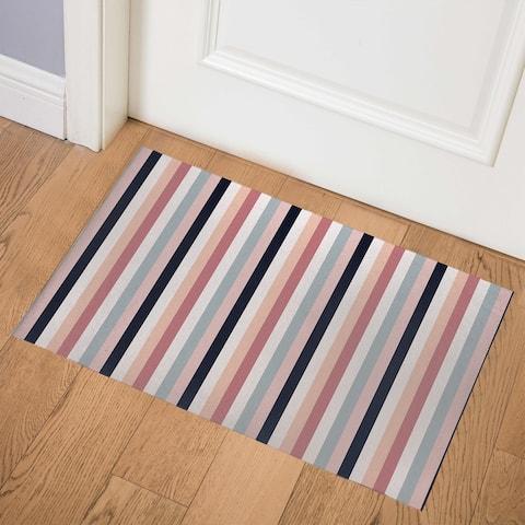 TILLY BOLD MIDNIGHT STRIPE Indoor Floor Mat by Kavka Designs