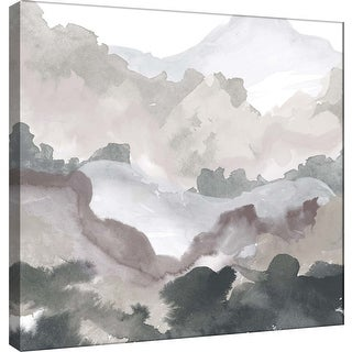 "PTM Images 9-100489  PTM Canvas Collection 12"" x 12"" - ""Layers of Winter C"" Giclee Mountains Art Print on Canvas"