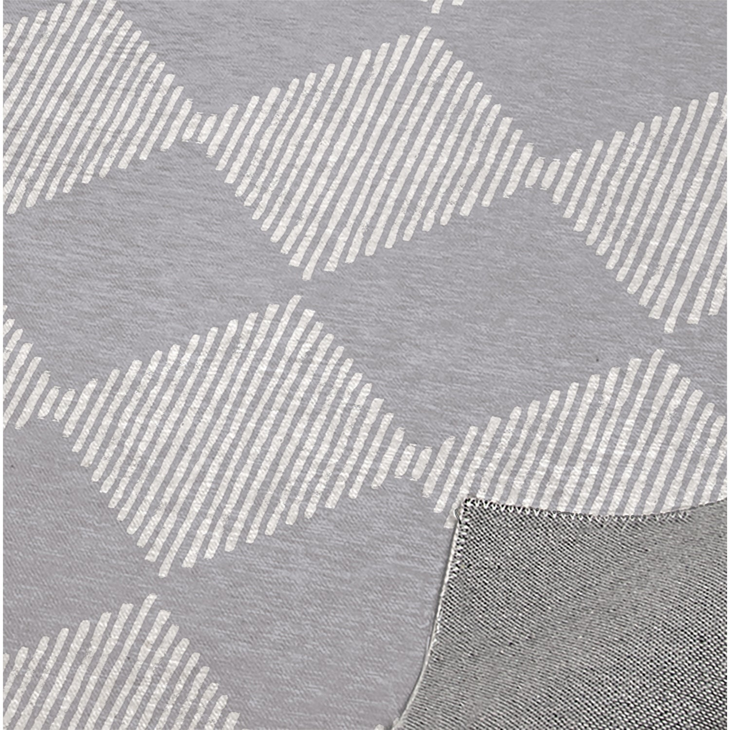 Block Print Check Board In White And Grey Kitchen Mat By Kavka Designs Overstock 30585530