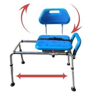 Platinum Health Gateway Premium Sliding Bath Shower Transfer Bench / Chair Padded with Swivel Seat