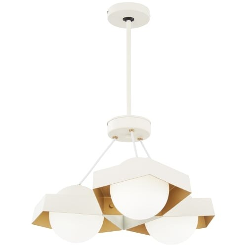 Kovacs P1399 044g L Five O 22 1 2 Wide Integrated Led Chandelier With Etched Gl Free Shipping Today 27263582
