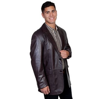 Scully Western Jacket Mens Leather Button Back Vent Chocolate 906-702