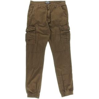 Matchstick Mens Solid Cargo Jogger Pants - 30