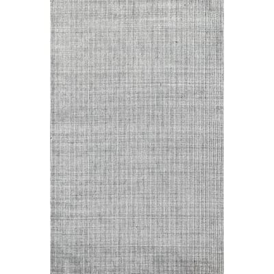 """Striped Oriental Contemporary Wool Area Rug Hand-knotted Foyer Carpet - 4'10"""" x 7'10"""""""
